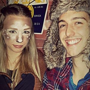 Deer/Hunter couple's costume!