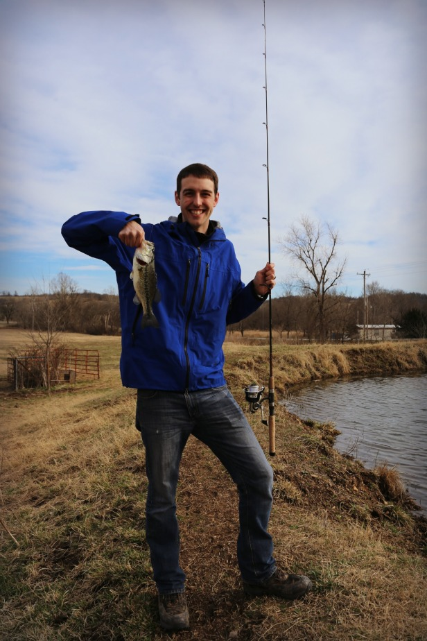 Ryan caught one right before we left