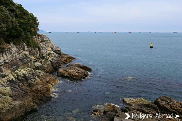 Odongdo Island's rocky coastline