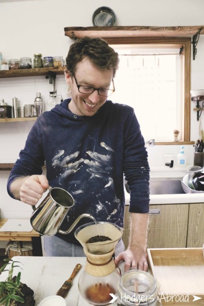 Pete also made us coffee! Nice shirt by the way....